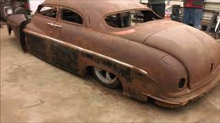 """VILLAGE CUSTOMS """"BERNIEFEST"""" 1 WEEKEND BODYSWAP OF A 88 GRAND MARQUIS  INTO A 49 LINCOLN  LEAD SLED"""
