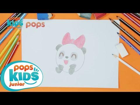 Hướng Dẫn Vẽ Pandy Những Người Bạn Nhỏ BabyRiki – Siêu Nhân Bút Chì Tập 23 – How To Draw Pandy