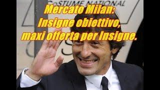 Mercato Milan: Insigne obiettivo, maxi offerta per Insigne.