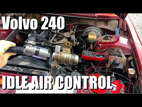 Diagnosing & Replacing Idle Air Control Valve Volvo 240