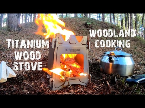 Tomshoo Titanium Wood Stove Cooking In The Woods - Finding Fatwood - A Bit Of Bushcraft