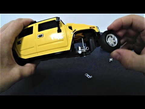 How to Fix Broken Front Wheel Assembly on RC Cars. DIY. Hummer RC Car Restoration Project.
