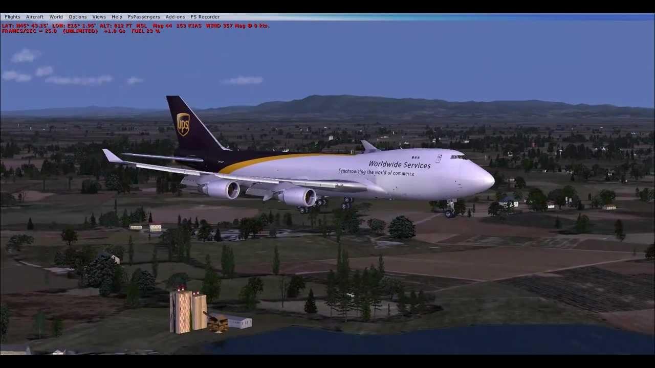 fsx ups 747 manual landing smoooothly at croatia ldza wmv youtube rh youtube com Delta 747 Landing Boeing 747 Wallpaper