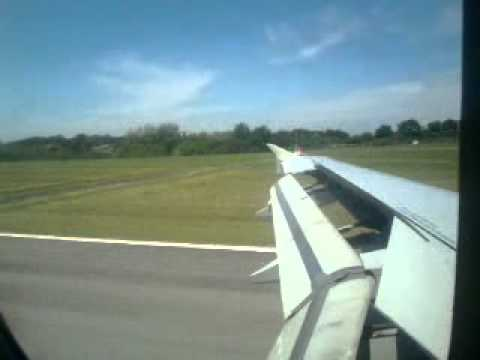 Landing in Biarritz-Parme A319 Air France