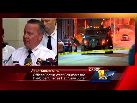 Video: Police announce death of detective shot in Baltimore