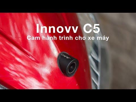 Camera Hành Trình Dành Cho Xe Máy Innovv C5: IP68, Quay FullHD, Có App Cài đặt Và Lấy Nguồn Từ Acquy