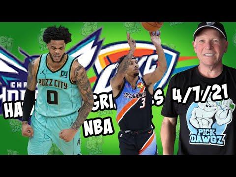 Oklahoma City Thunder vs Charlotte Hornets 4/7/21 Free NBA Pick and Prediction NBA Betting Tips