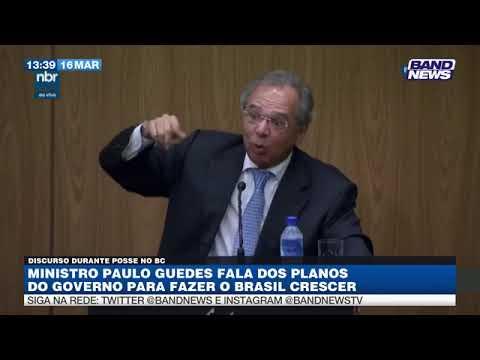 Guedes fala de planos para fazer o Brasil crescer
