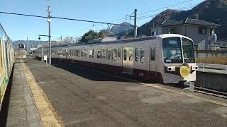 秩父鉄道 急行ちちぶ路3号三峰口行き 武州中川駅通過