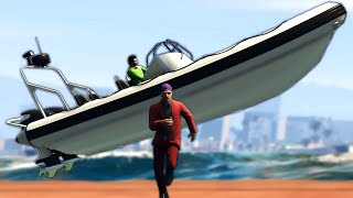 RUNNERS vs KILLER BOATS!? (GTA 5 Minigames)