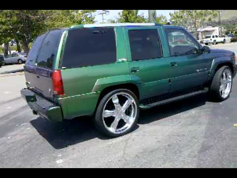 Chameleon Paint Job Cadillac Escalade Car Paint Job San