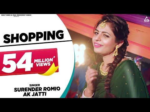 Shopping (Full Video) | Surender Romio | Ak Jatti, Anamika Bawa | New Haryanvi Song DJ Songs 2020