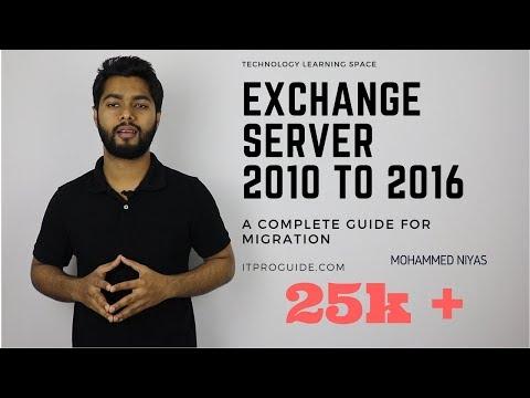 Microsoft Exchange server 2016 migration from  Exchange server 2010