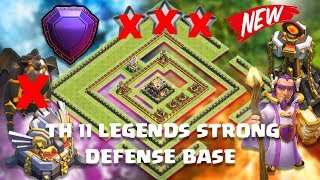 TH 11 LEGENDS STRONG DEFENSE AND TROPHY BASE ANTI EVRYTHING With Replay