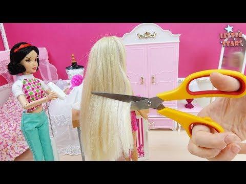 Barbie Doll DIY Haircut - Salon Playset Review