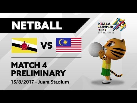 KL2017 29th SEA Games   Netball - BRU 🇧🇳 vs MAS 🇲🇾