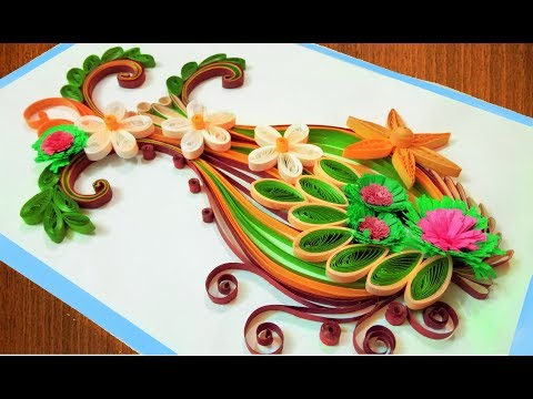paper-art-|-quilling-flower-vase-|quilling-birthday-greeting-card-🌹paper-quilling-art🌹