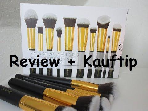 dacd28a95ed4 Review  Das neue BH Cosmetics Sculpt   Blend 3 -10 Piece Brush Set ...