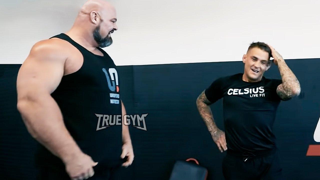 Гигант проверил бойца UFC / Заруба в качалке / Порье против самого сильного человека в мире