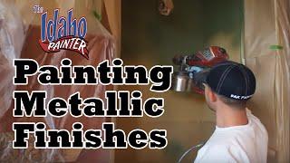 SPRAYING METALLIC PAINT. how to spray a metallic finish, Flexspray instructions.