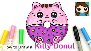 How to Draw a Kitty Donut Squishy Easy