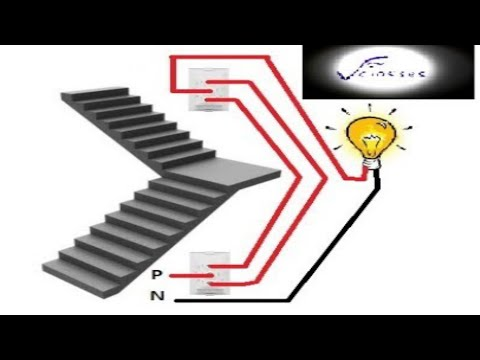 two way switch wiring jina wiring staircase wiring in hindi rh youtube com Schematic Circuit Diagram House Wiring
