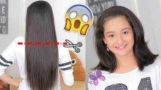 I Gave My Princess a Haircut!! - How to Cut Hair