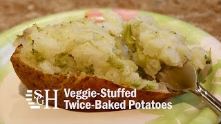 Veggie Stuffed Twice Baked Potatoes