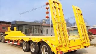 China fudeng 50 ton low flatbed trailer for sale