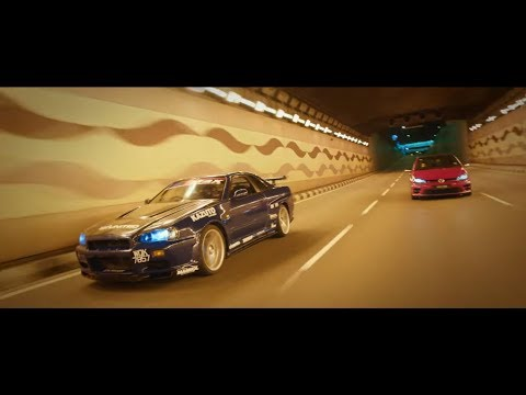 KL WANGAN Behind The Scenes (Volkswagen Golf R Chasing Nissan Skyline R34)