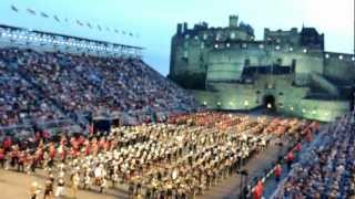 Edinburgh Tattoo 2012 Massed Military bands and Massed Pipes and Drums March Out