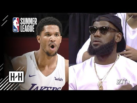 LeBron James Watching Summer League Lakers Destroy Pistons | July 15 - 2018 NBA Summer League Recap