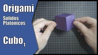 Cubo 1 | Sólidos Platónicos | Origami