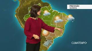Previsão Brasil – Umidade aumenta na costa do Sul e Sudeste