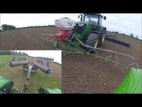 Grass Seeding, John Deere 6190R and Dalbo