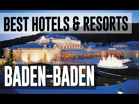 Best Hotels And Resorts In Baden Baden, Germany