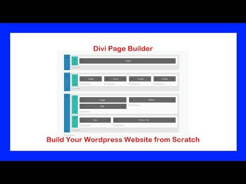 How to Build a WordPress Website from Scratch with the Divi Builder – tutorial