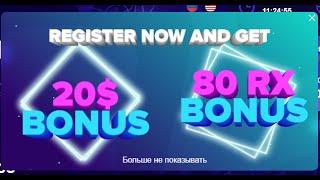 Заработок в интернете без вложений ! 20$ + 80 RXcoin за простую регистрацию от проекта Ronex !