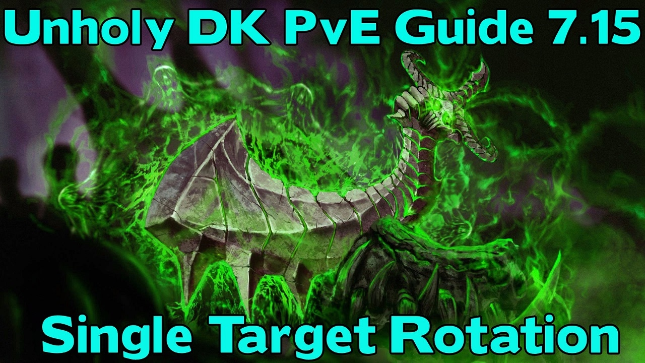 Wow Legion 7 15 Pve Guide Unholy Dk Dps Rotation Guide Topping Nighthold Youtube