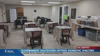 Domestic violence centers feel the impact of government shutdown