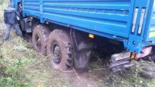 Вытягиваем КАМАЗ 43118