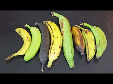 How to eat UNRIPE BANANAS, RAW PLANTAINS & everything in between