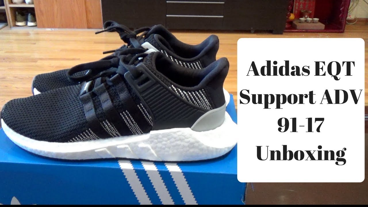 5ac15e689e83 Adidas EQT Support ADV 93-17 Unboxing  On Feet Review - YouTube