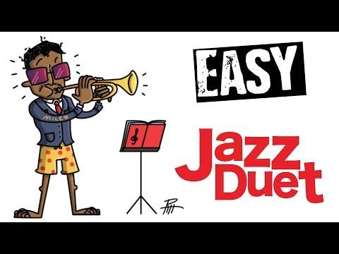 Easy Jazz Trumpet duet 'Barrel House Blues'