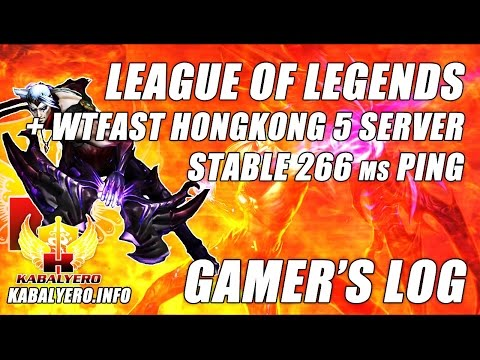 League Of Legends + WTFast Hongkong 5 Server ★ Stable In Game Ping 266 ms (Gamer's Log)