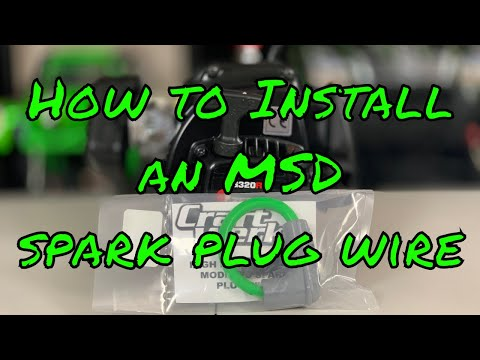 Installing an MSD spark plug wire on the Zenoah G320RC for the MTXL