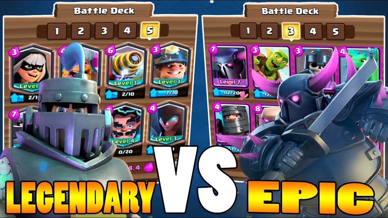 Clash Royale - ALL LEGENDARY ( MEGA KNIGHT ) V's ALL EPIC