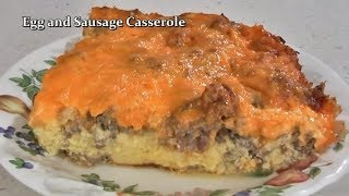 Egg And Sausage Breakfast Casserole Recipe