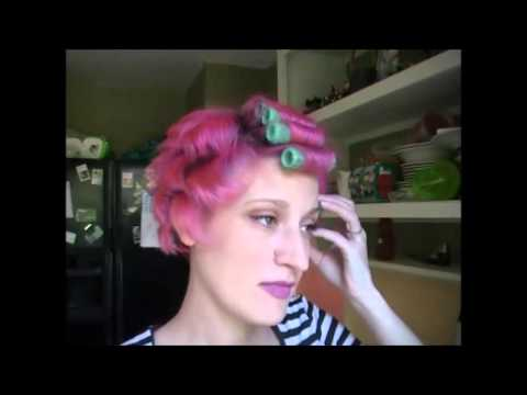 Refresh Short Hair With Velcro Rollers Youtube