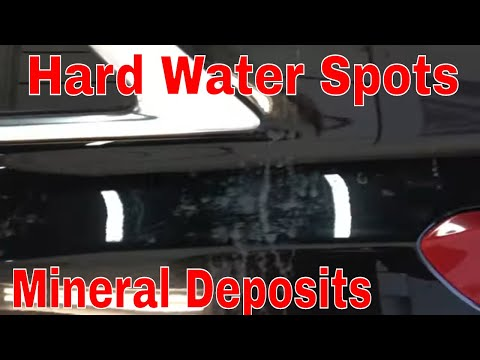 How To Safely Remove Hard Water Spots And Mineral Deposits From Black Paint!!
